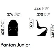 Panton Chair Jounior dimensioni