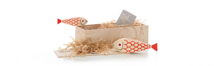 Wooden Dolls Mother Fish &